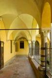 San Giacomo cloister arcade, Soncino Stock Photography