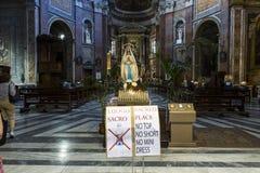 San Giacomo dans l'église d'Augusta, Rome, Italie Images stock