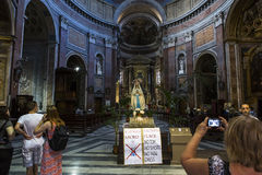 San Giacomo dans l'église d'Augusta, Rome, Italie Photographie stock libre de droits