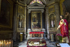 San Giacomo dans l'église d'Augusta, Rome, Italie Photo stock