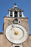San Giacomo di Rialto. The clock on the church of San Giacomo di Rialto, Venice, Veneto, Italy, Europe Stock Photography