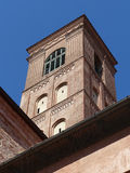 San Giacomo Maggiore, Bologna. The campanile of the church of San Giacomo Maggiore in Bologna, seen from its cloisters Royalty Free Stock Photography