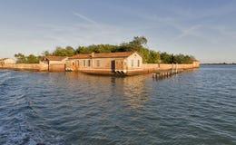 San Giacomo in Paludo island in sunset Venice lagoon, Italy. Stock Photography