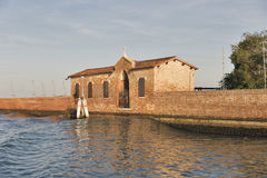 San Giacomo in Paludo island in sunset Venice lagoon, Italy. Royalty Free Stock Photos