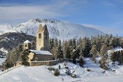 San Gian Church in Celerina Royalty Free Stock Image