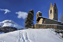 San Gian Church in Celerina Stock Photos