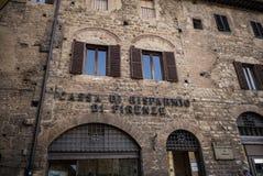 SAN Gimignano, πέτρινα κτήρια Στοκ Εικόνες