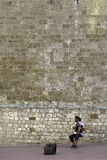 SAN Gimignano, Τοσκάνη, μουσικός οδών Εικόνα χρώματος στοκ εικόνες