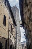San Gimignano, Сиена, на утре Стоковые Фотографии RF