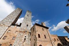 San Gimignano - Сиена Тоскана Италия Стоковое Изображение RF
