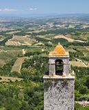 San Gimignano. View from the highest tower of San Gimignano, Italy stock photography