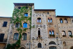 San Gimignano arkivbild