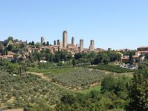 San Gimignano stockfotos