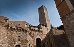 San Gimignano. View of towers San Gimignano - medieval town of Tuscany ,Italy Stock Images