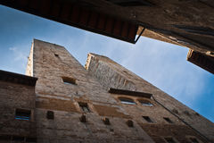 San Gimignano. Towers of San Gimignano-small,old, town in Tuscany,Italy Stock Images