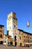 San Gimignano. Central piazza in San Gimignan Tuscany Stock Images