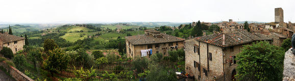 San Gimignano. Landscape of the sieneses hills ,Siena Tuscany Italy stock images