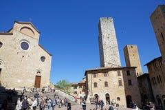Исторический центр San Gimignano, Тосканы, Италии Стоковая Фотография