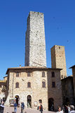 Исторический центр San Gimignano, Тосканы, Италии Стоковые Фото