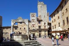 Исторический центр San Gimignano, Тосканы, Италии Стоковые Фотографии RF