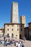 Исторический центр San Gimignano, Тосканы, Италии Стоковое Изображение RF