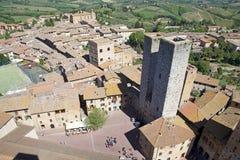 Исторический центр San Gimignano, Тосканы, Италии Стоковая Фотография RF