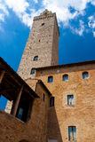 San Gimignano is an ancient town near Siena, Italy Royalty Free Stock Images