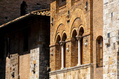 San Gimignano is an ancient town near Siena, Italy Royalty Free Stock Photography