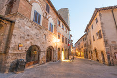San Gimignano architecture at sunset, Tuscany - Italy Royalty Free Stock Images