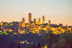 Free San Gimignano At Night, Tuscany, Italy Stock Photo - 191294960