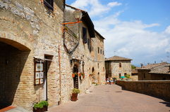 San Gimignano buildings Royalty Free Stock Images