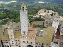 San Gimignano donnent sur photographie stock