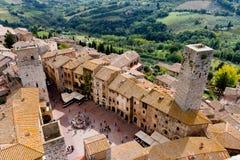 San Gimignano est une ville médiévale en Toscane images libres de droits