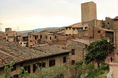 San Gimignano gammal stad royaltyfria foton
