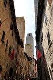 San Gimignano gata Arkivfoto