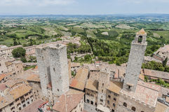 San Gimignano general view in Tuscany, Italy Royalty Free Stock Image