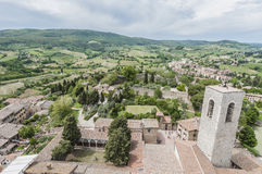 San Gimignano general view in Tuscany, Italy Stock Photo