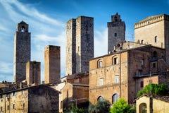 San gimignano. Historic building in san gimignano - tuscany - italy Stock Photography