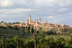 San Gimignano i Italien Arkivbild