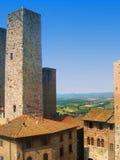 San Gimignano i Tuscany Italien Fotografering för Bildbyråer