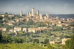 San Gimignano Italië Stock Afbeelding