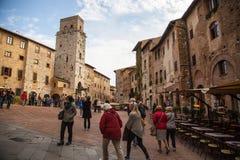 San Gimignano, Italië Stock Afbeeldingen