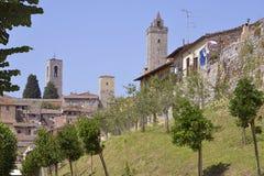 San Gimignano in Italia Immagine Stock Libera da Diritti