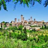 San Gimignano, Italien Stockbild