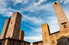 San Gimignano - Italien arkivbild