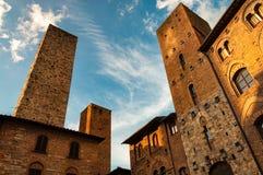 San Gimignano - Italien arkivfoto