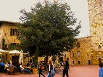 San Gimignano Italien, Toscana Arkivbilder