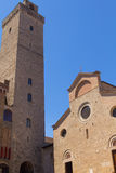 San Gimignano, Italy. Church and tower at San Gimignano, Italy Stock Images