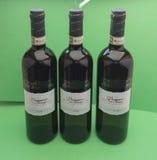 Vernaccia wine bottles Royalty Free Stock Images
