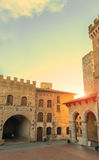 San Gimignano, Italy. View of San Gimignano Dome square - Italy - world heritage site royalty free stock image